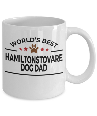 Hamiltonstovare Dog Lover Gift World's Best Dad Birthday Father's Day White Ceramic Coffee Mug