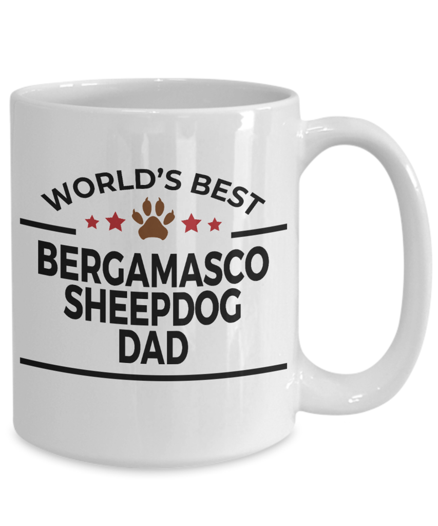 Bergamasco Sheepdog Owner Dog Lover Gift World's Best Dad Birthday Father's Day White Ceramic Coffee Mug