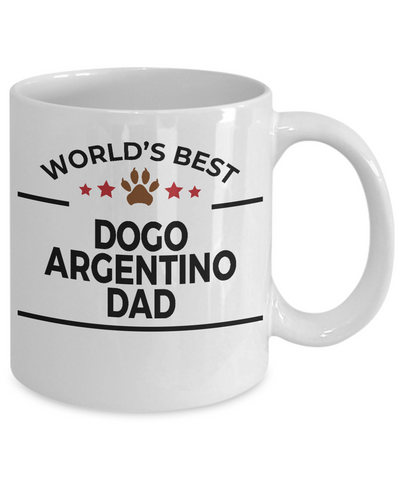 Dogo Argentino Dog Lover Gift World's Best Dad Coffee Mug