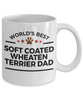 Soft Coated Wheaten Terrier Dog Lover Gift World's Best Dad Birthday Father's Day White Ceramic Coffee Mug