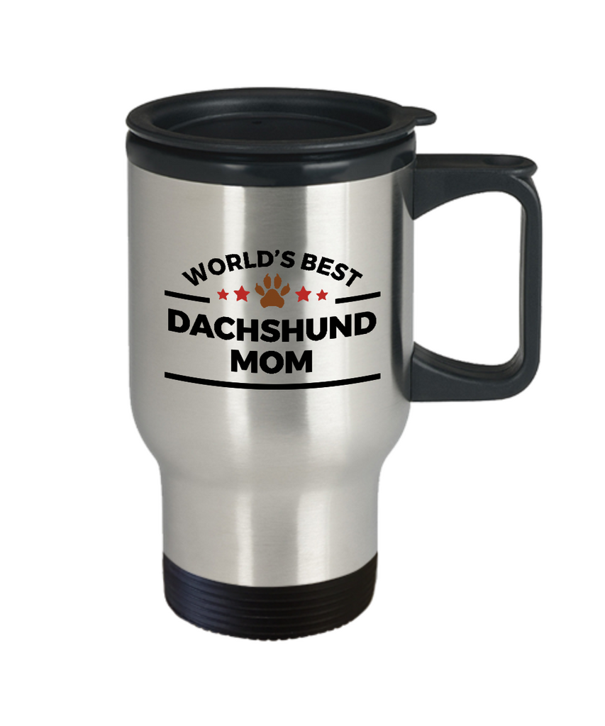Dachshund Dog Lover Gift World's Best Mom Birthday Mother's Day Stainless Steel Travel Coffee Mug