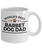 Barbet Dog Lover Gift World's Best Dad Birthday Father's Day White Ceramic Coffee Mug