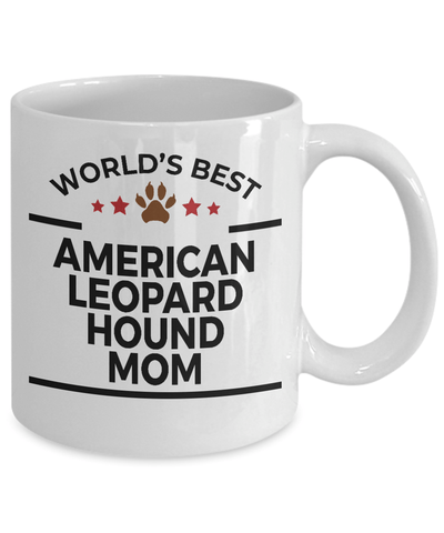 American Leopard Hound Dog Lover Gift World's Best Mom Birthday Mother's Day White Ceramic Coffee Mug