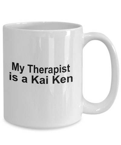 Kai Ken Dog Owner Lover Funny Gift Therapist White Ceramic Coffee Mug