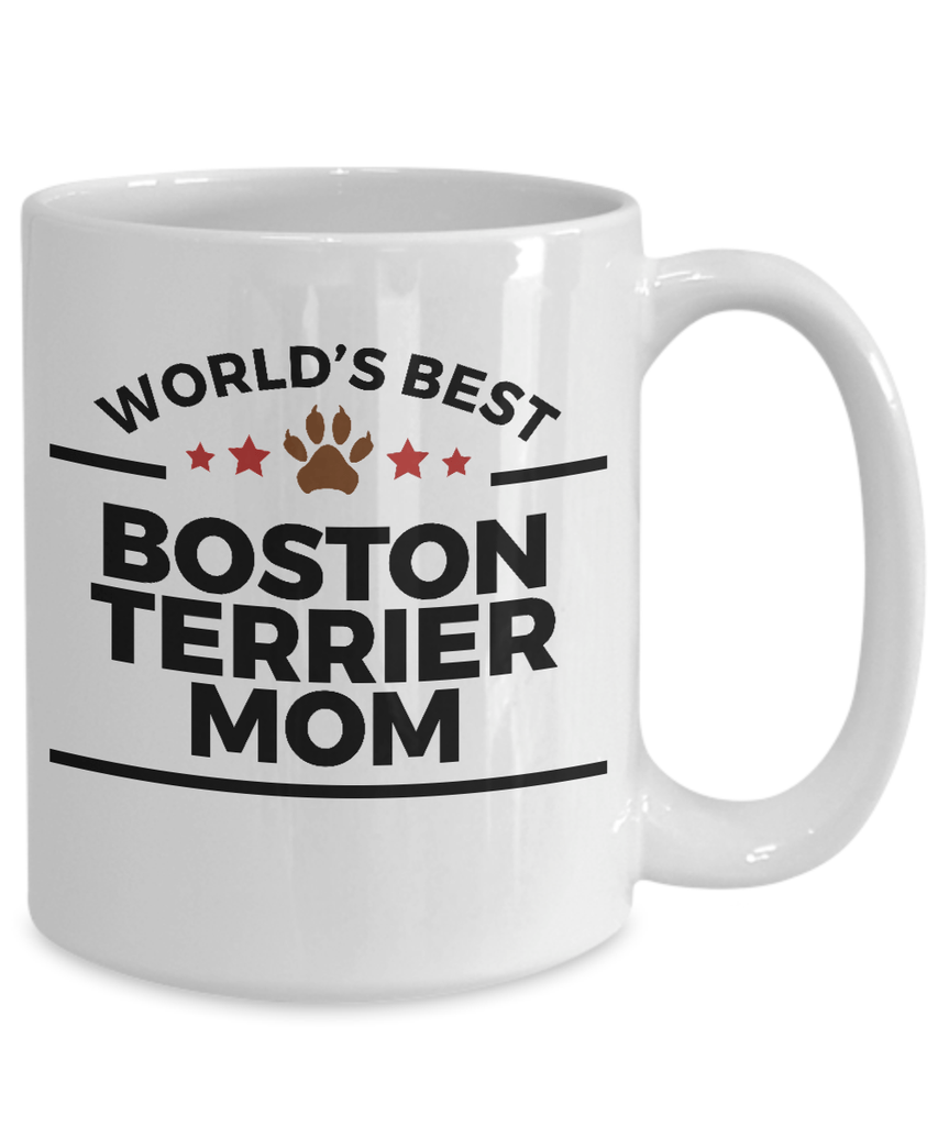 Boston Terrier Dog Mom Coffee Mug