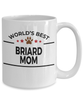 Briard Dog Lover Gift World's Best Mom Birthday Mother's Day White Ceramic Coffee Mug
