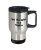 Vizsla Dog Owner Lover Funny Gift Therapist Stainless Steel Insulated Travel Coffee Mug