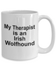Irish Wolfhound Dog Owner Lover Funny Gift Therapist White Ceramic Coffee Mug
