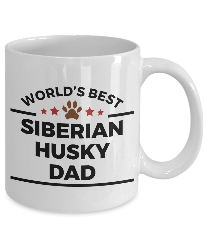 World's Best Siberian Husky Dad Ceramic Mug