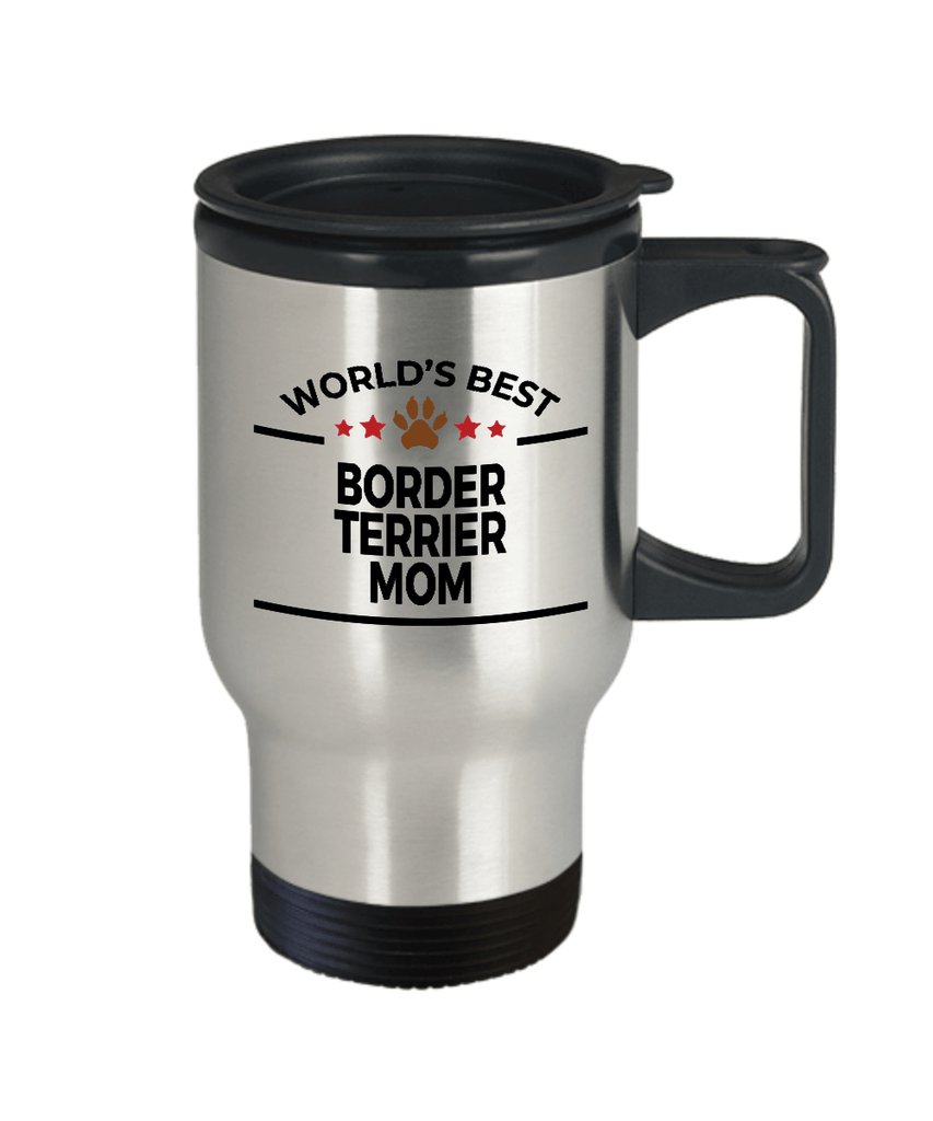 Border Terrier Dog Lover Gift World's Best Mom Birthday Mother's Day Stainless Steel Insulated Travel Coffee Mug