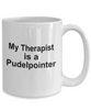 Pudelpointer Dog Owner Lover Funny Gift Therapist White Ceramic Coffee Mug