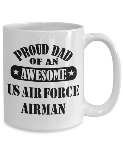 US Air Force Airman Proud Dad Coffee Mug