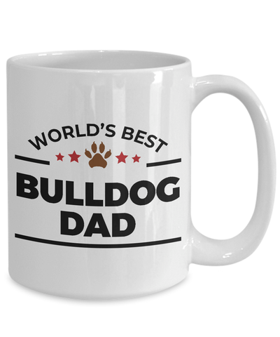World's Best Bulldog Dad Ceramic Mug