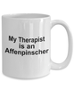 Affenpinscher Dog Owner Lover Funny Gift Therapist White Ceramic Coffee Mug
