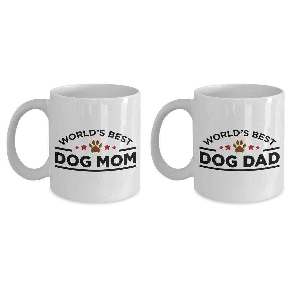 World's Best Dog Mom and Dad Ceramic Mugs