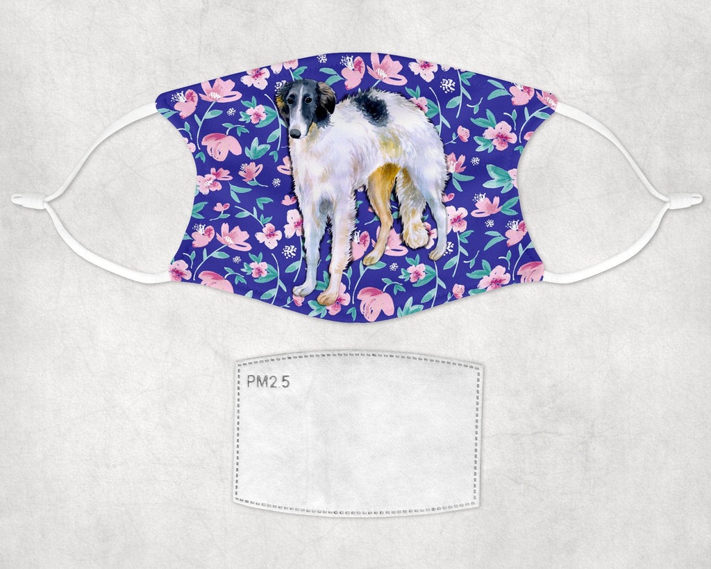 Borzoi Face Mask Child and Adult Sizes Made in USA
