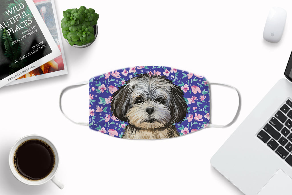 Peekapoo Puppy Dog Face Mask