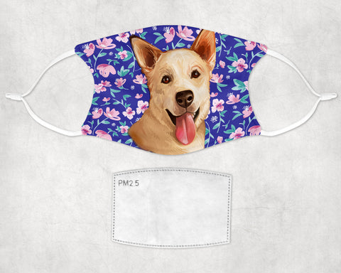 Carolina Dog Lover non-medical Face Mask child and adult printed in USA