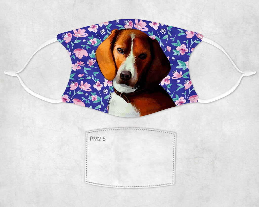 American Foxhound Dog Face Mask Child Adult Washable Made in USA
