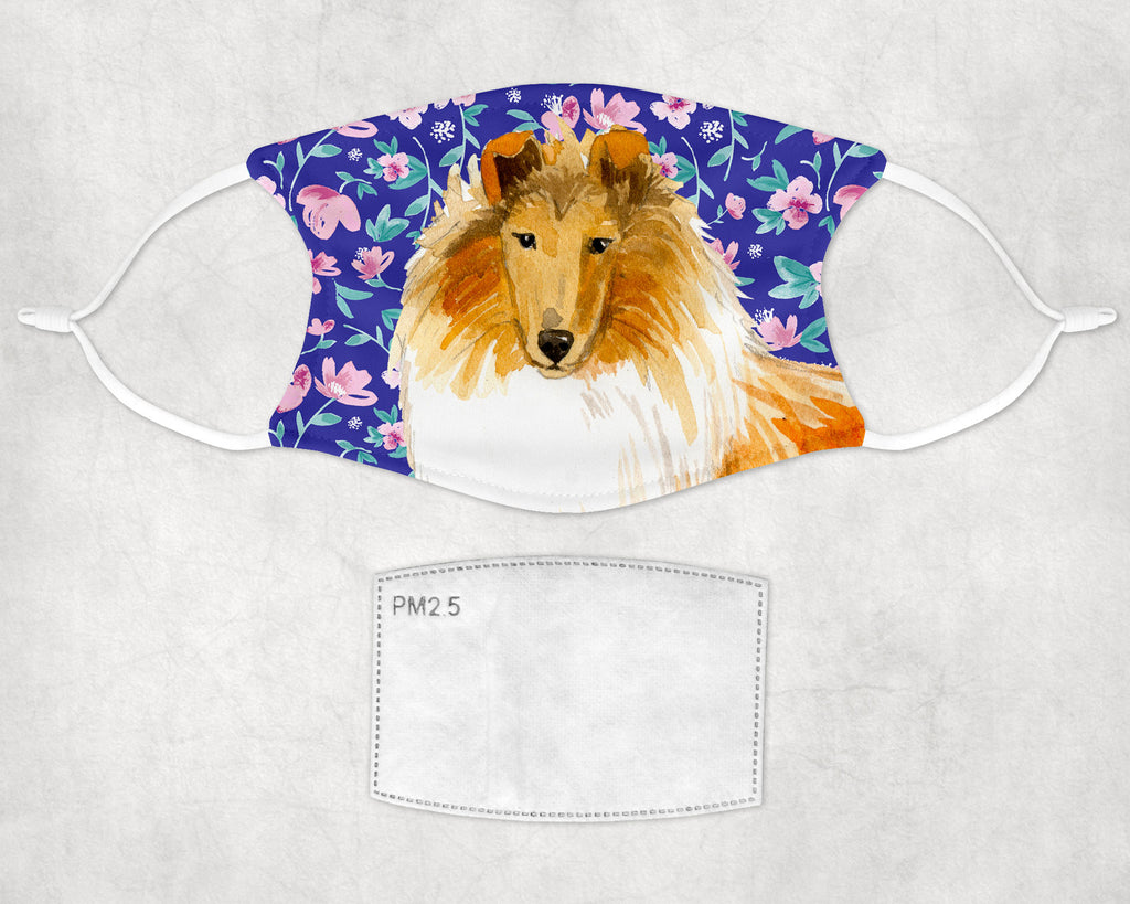 Collie Dog Custom Face Mask Made in USA