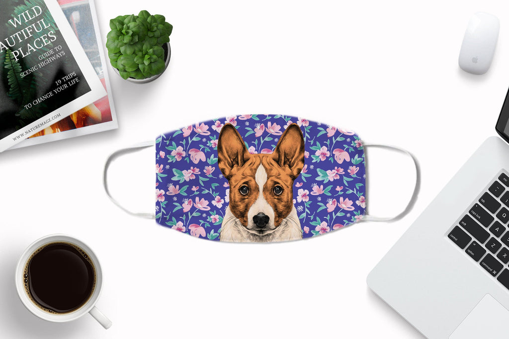 Basenji Dog Fabric Face Cover Washable Reusable Sublimation Printed Face Art