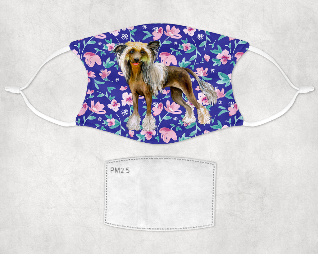 Chinese Crested Dog non-medical Face Mask printed in USA