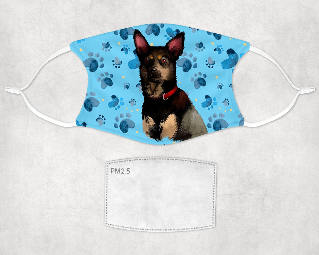 Australian Kelpie Dog Face Mask Child Adult Washable Made in USA