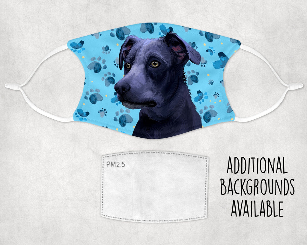 Blue Lacy Dog Face Mask Made in USA