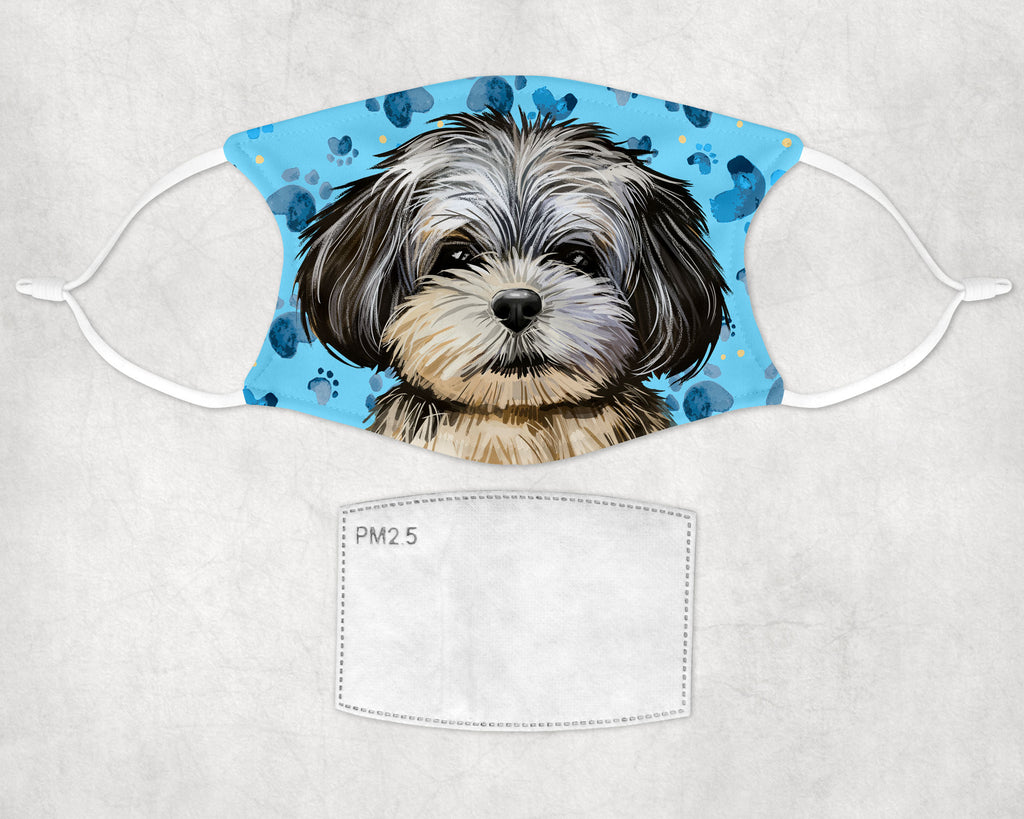 Peekapoo Puppy non-medical face mask child and adult sizes