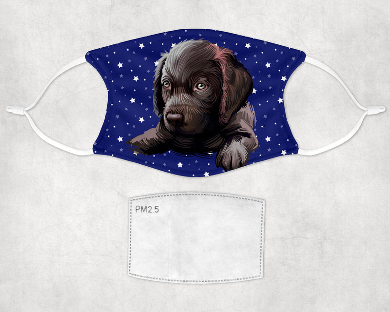 Boykin Spaniel Puppy Face Mask Child and Adult Made in USA
