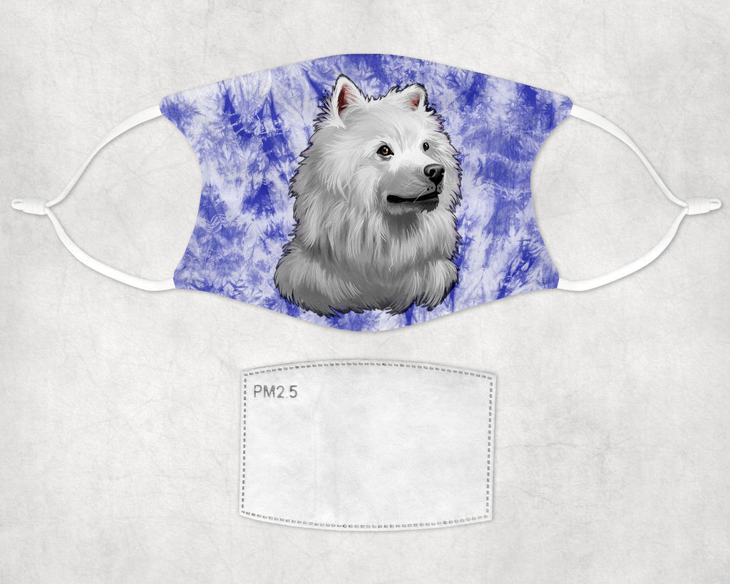 American Eskimo Dog Face Mask Child Adult Washable Made in USA