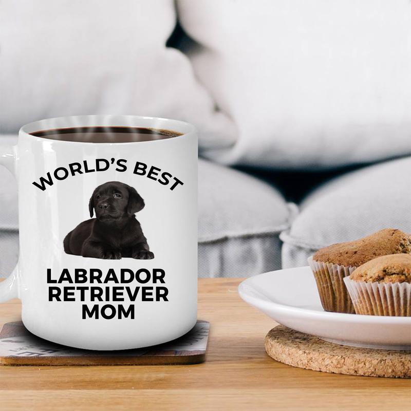Labrador Retriever Black Puppy Dog Mom Coffee Mug