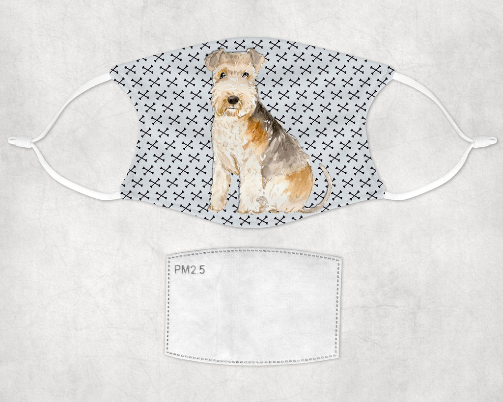 Lakeland Terrier Dog Child and Adult Face Mask Made in USA