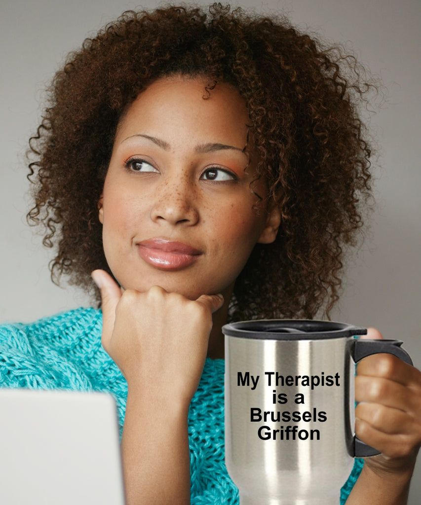 Brussels Griffon Dog Therapist Travel Coffee Mug