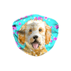 Goldendoodle Dog Mint Floral Sublimation Face Mask