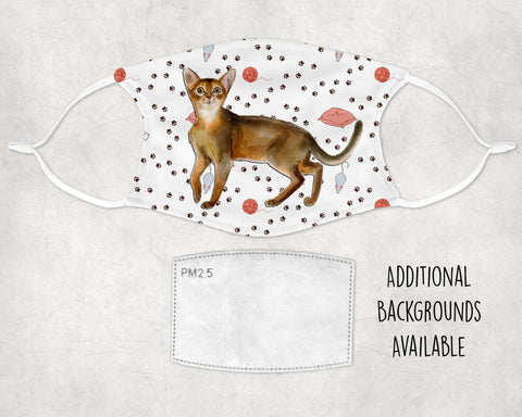 Abyssinian cat face mask