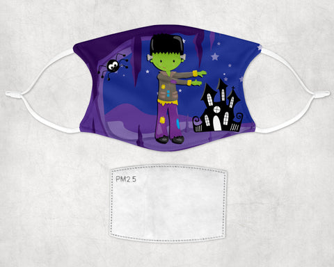Frankenstein Monster Halloween Face Mask Child and Adult sizes
