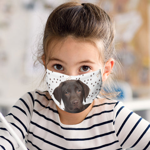 Chocolate Labrador Puppy Face Mask - Child and Adult Size - Made in USA
