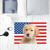 Golden Retriever Puppy USA Flag Sublimation Mat / Carpet / Rug / Play Mat / Pet Feeding Mat