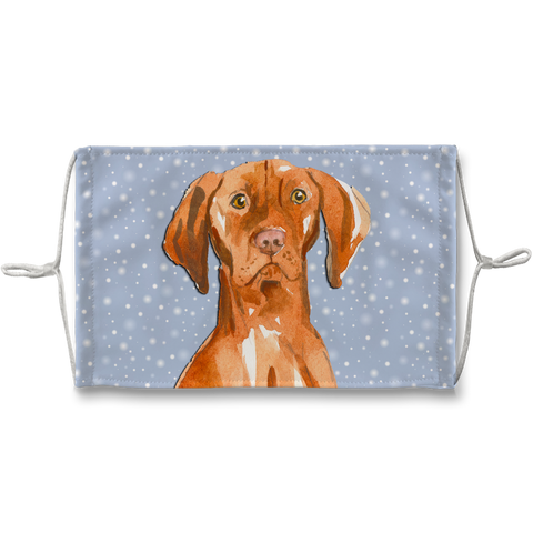 Vizsla Dog Soft Snowfkake Sublimation Face Mask