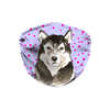 Alaskan Malamute Dog Watecolor Purple Sublimation Face Mask