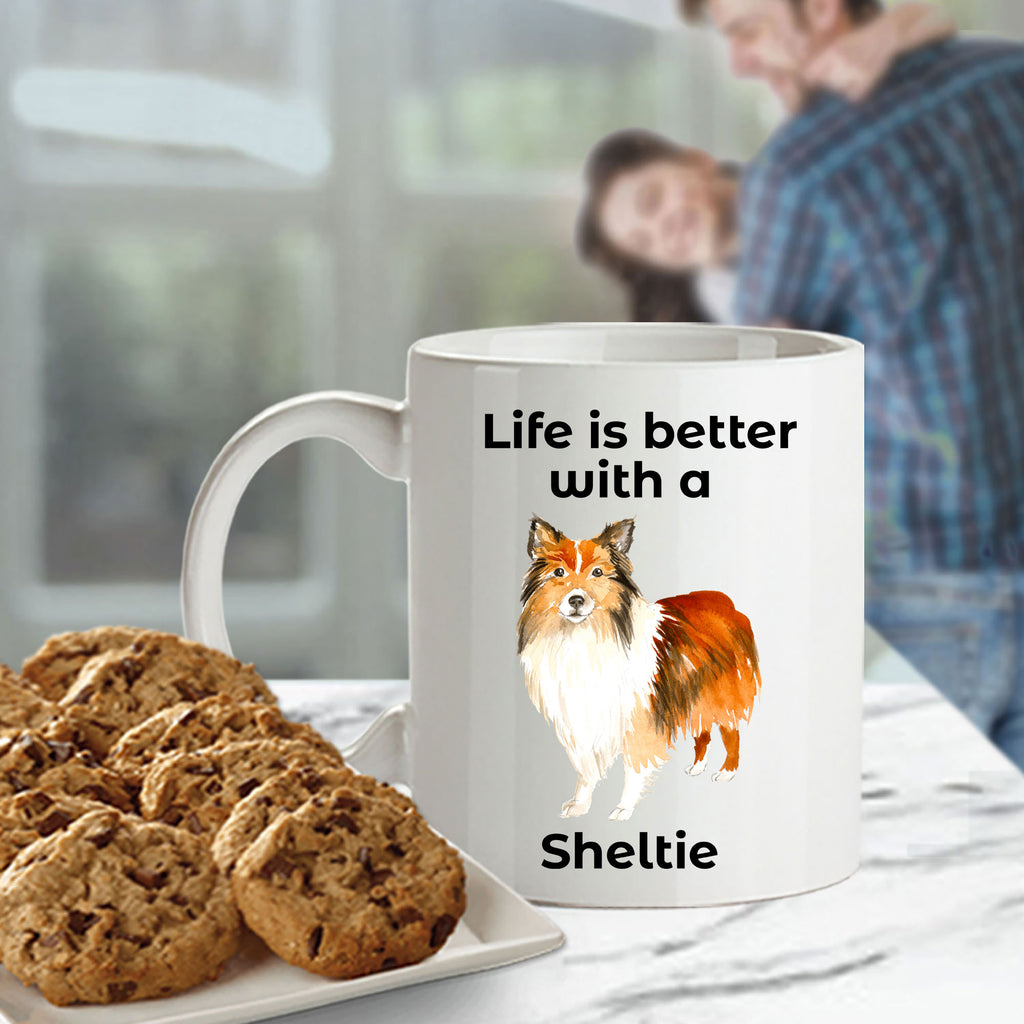 Shetland Sheepdog Life is Better with a Sheltie Coffee Mug
