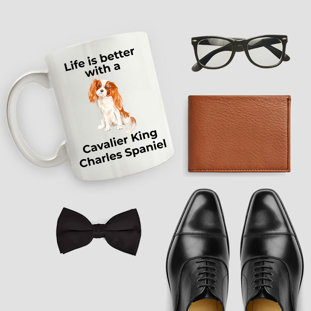 Cavalier King Charles Spaniel Coffee Mug - Life is Better