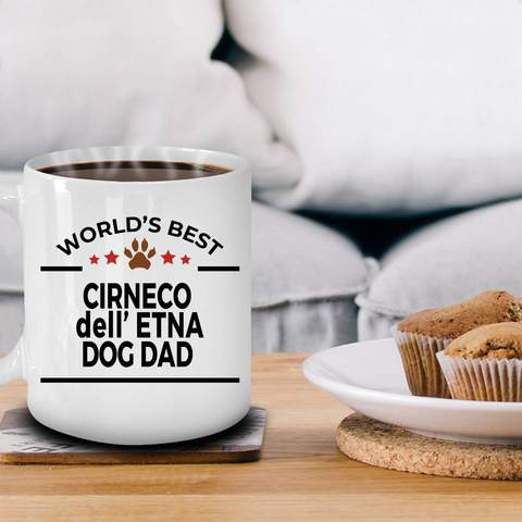 Cirneco dell'Etna Dog Lover Gift World's Best Dad Birthday Father's Day White Ceramic Coffee Mug