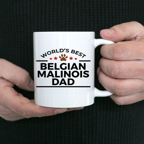 Belgian Malinois Dog Lover Gift World's Best Dad Birthday Father's Day White Ceramic Coffee Mug