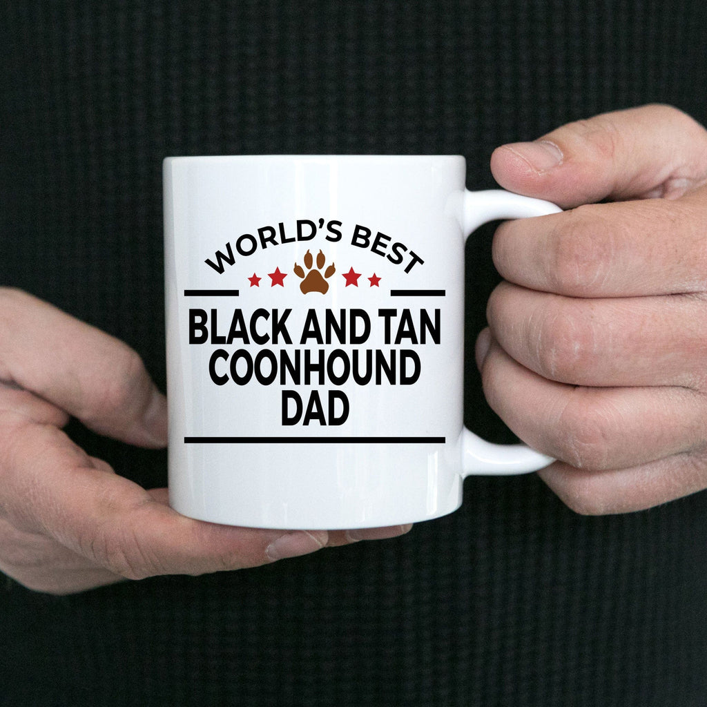 Black and Tan Coonhound Dog Dad Coffee Mug