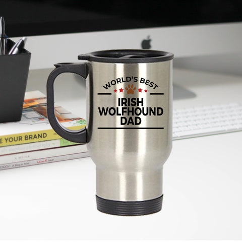Irish Wolfhound Dog Dad Travel Mug