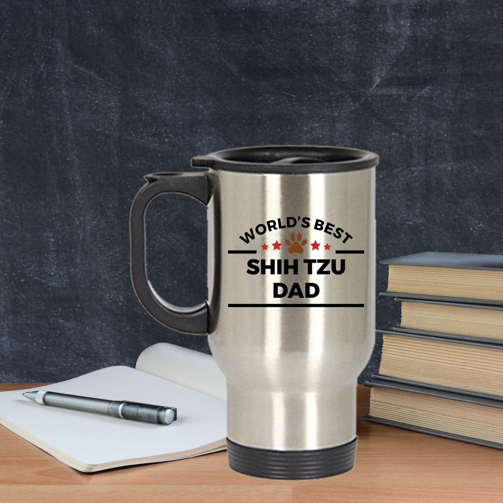 Shih Tzu Dog Dad Travel Coffee Mug