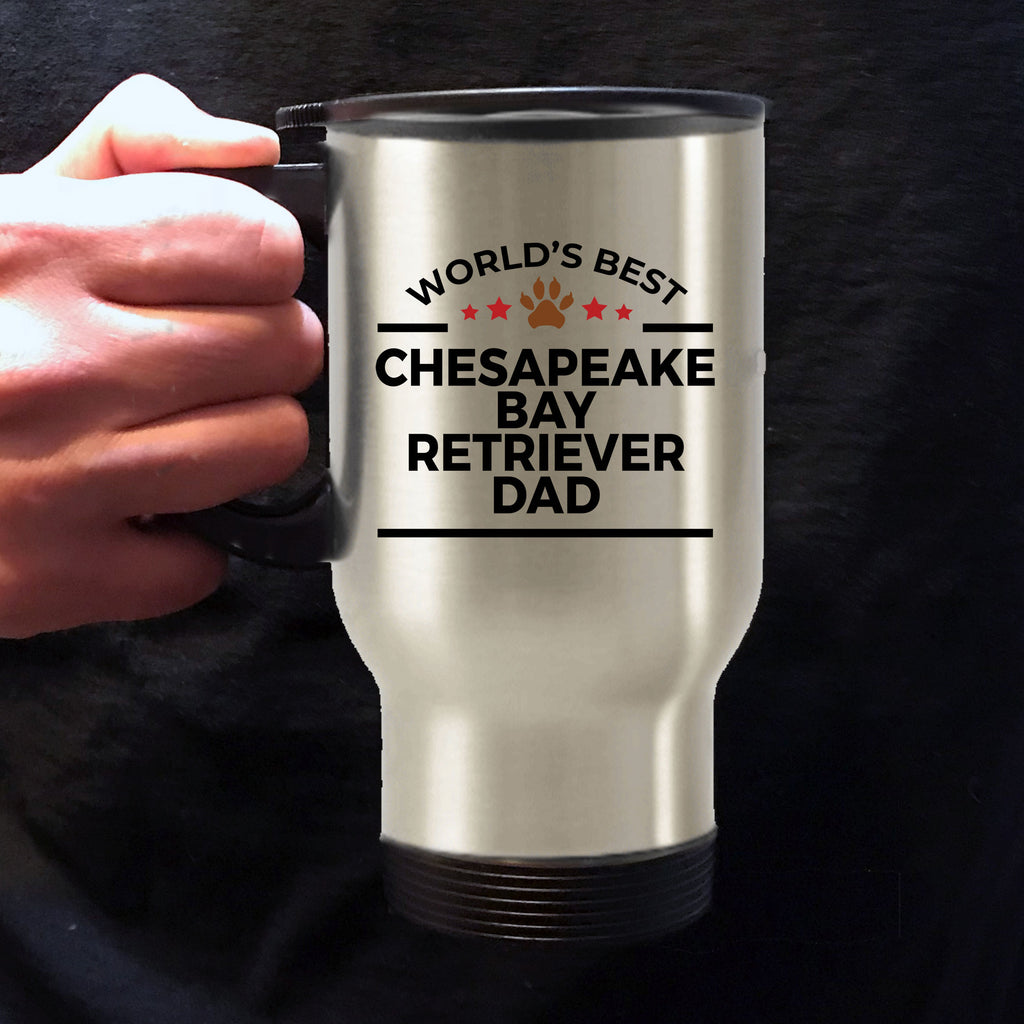 Chesapeake Bay Retriever Dog Dad Travel Coffee Mug
