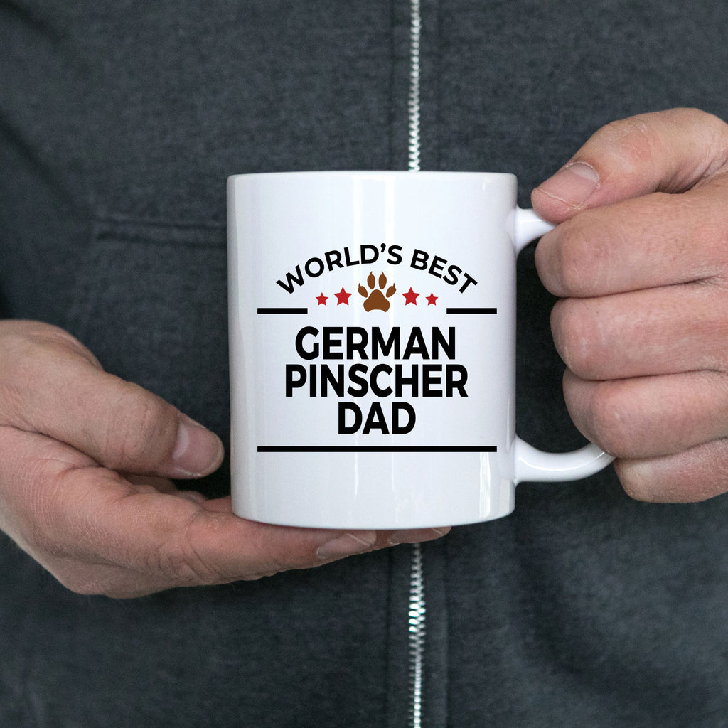 German Pinscher Dog Lover Gift World's Best Dad Birthday Father's Day White Ceramic Coffee Mug